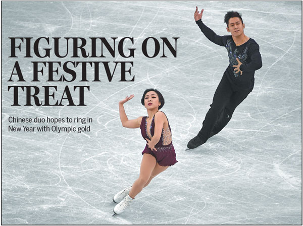 China S Sui Wenjing And Han Cong Compete In The Pairs