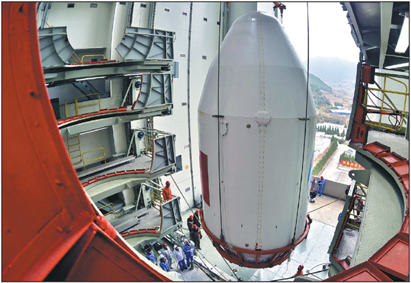Technicians At The Xichang Satellite Launch Center Sichuan