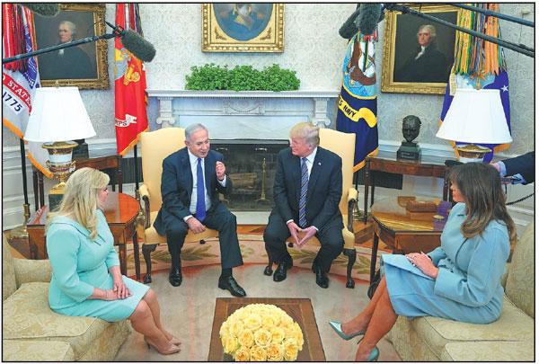 Us President Donald Trump Meets With Israeli Prime