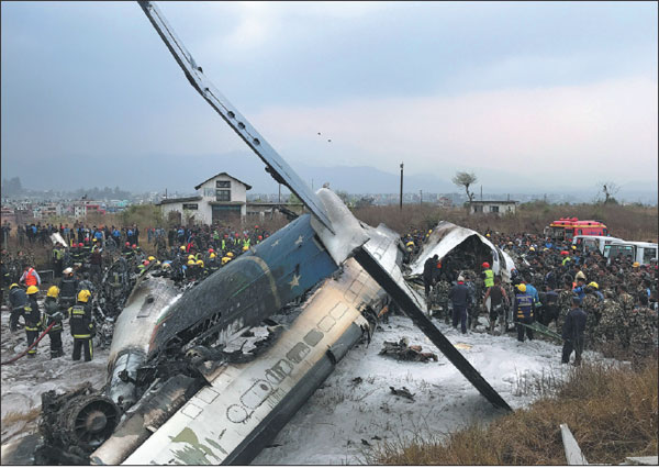 Miami Gas Prices >> wreckage of a us bangla airlines passenger plane is pictured as rescue workers operate at nepal ...