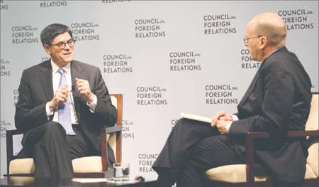 Us Secretary Of Treasury Jacob Lew Left Talks About The Us