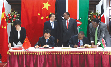 chinese premier li keqiang third from left and kenyan president uhuru ...
