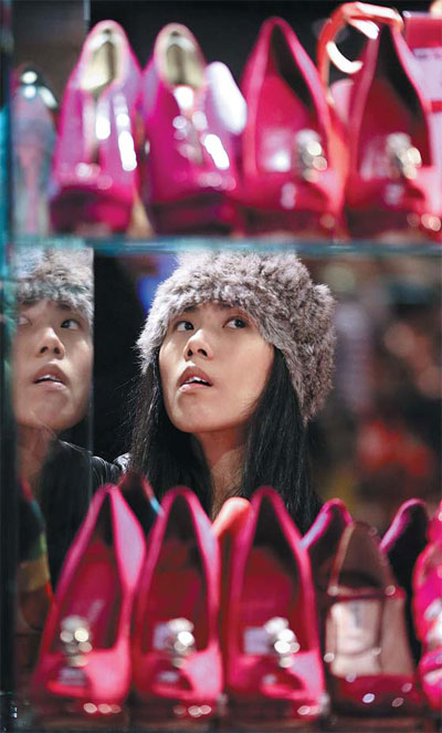 Shoppers In Search Of Bargains In London And A Chinese