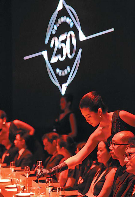 banquet at hennessey s 250th anniversary photos provided to china daily