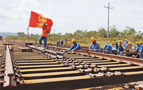Crec Workers Building A Railway In Venezuela Provided To China Daily