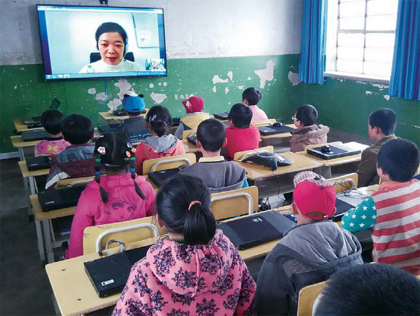 Kids Use Of Technology Soars >> students in an online class offered by ngo project ...
