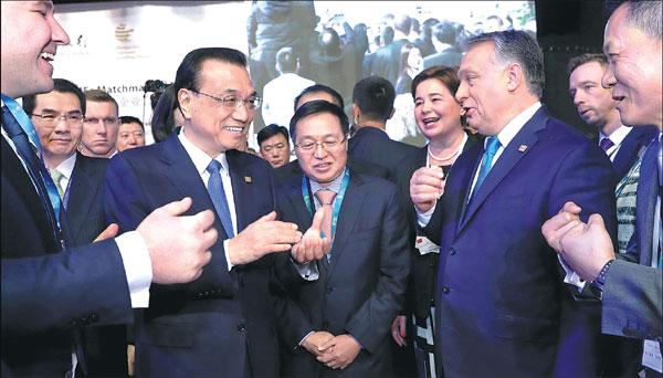 Premier Li Keqiang And Hungarian Prime Minister Viktor