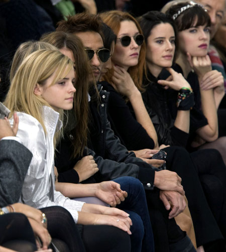 British Actress Emma Watson At Chanel S Paris Show