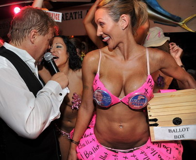 Bikini contest linked with US election