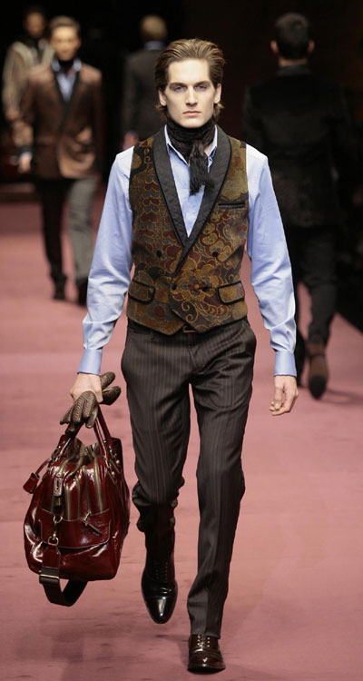 Part of D&G Fall/Winter 2009/10 men's collections during ...