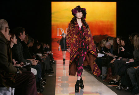 'Dress and Prints':Diane von Furstenberg collection show at New York Fashion Week