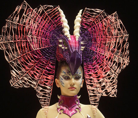 Hair art show at international beauty festival in St Petersburg