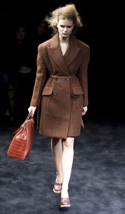 Prada F/W women's collection show at Milan Fashion Week