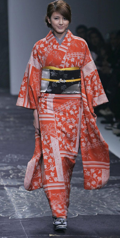 Japanese kimono designer Jotaro Saito at Japan Fashion Week