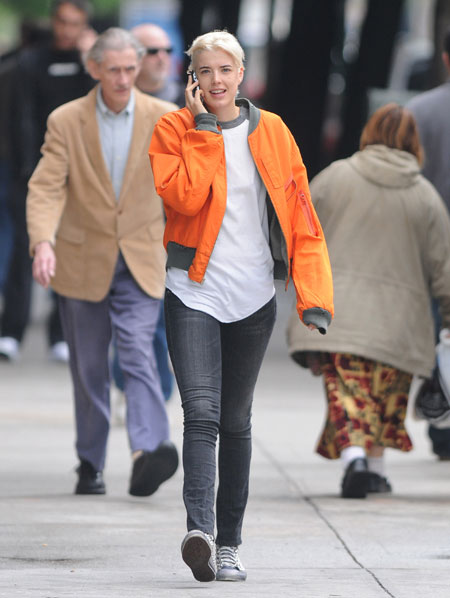 Agyness Deyn seen New York City's East Village