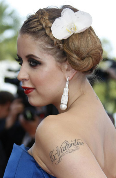 Style watch: tatoo on red carpet at Cannes Film Festival