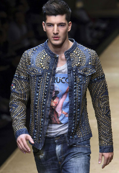 D&G Spring/Summer 2010 men's collection during Milan Fashion Week