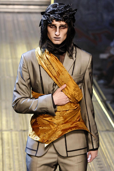 John Galliano men's Spring-Summer 2010 fashion collection in Paris