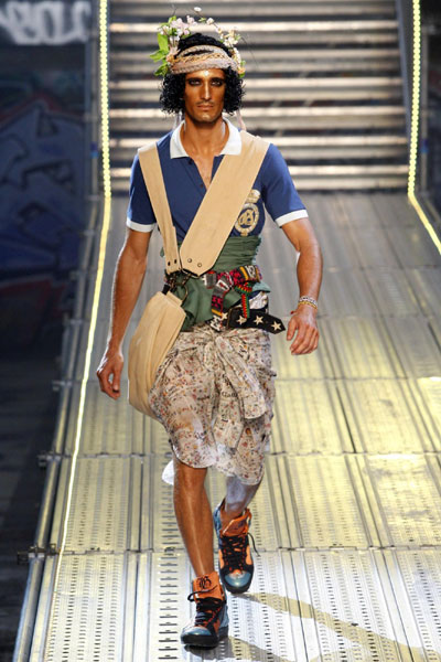 John Galliano men's Spring-Summer 2010 fashion collection in Paris
