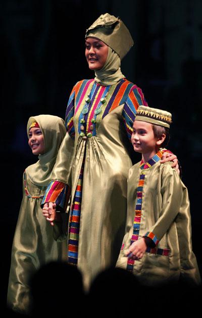Muslim fashion show in Jakarta