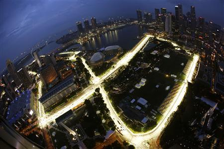 Singapore Escort Picture on The Marina Bay Street Circuit Of The Singapore Formula One Grand Prix