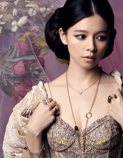 Vivian Hsu graces 'Bazaar Jewelry' Feb issue