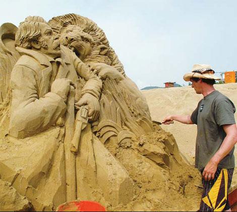 Sands of time wash over Zhujiajian