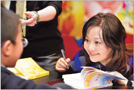 China's best-selling children's author Yang Hongying. Photo by Chen Tuanjie / for China Daily