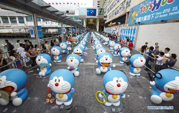 D Exhibition Hk : Doraemon models exhibited in hk chinadaily