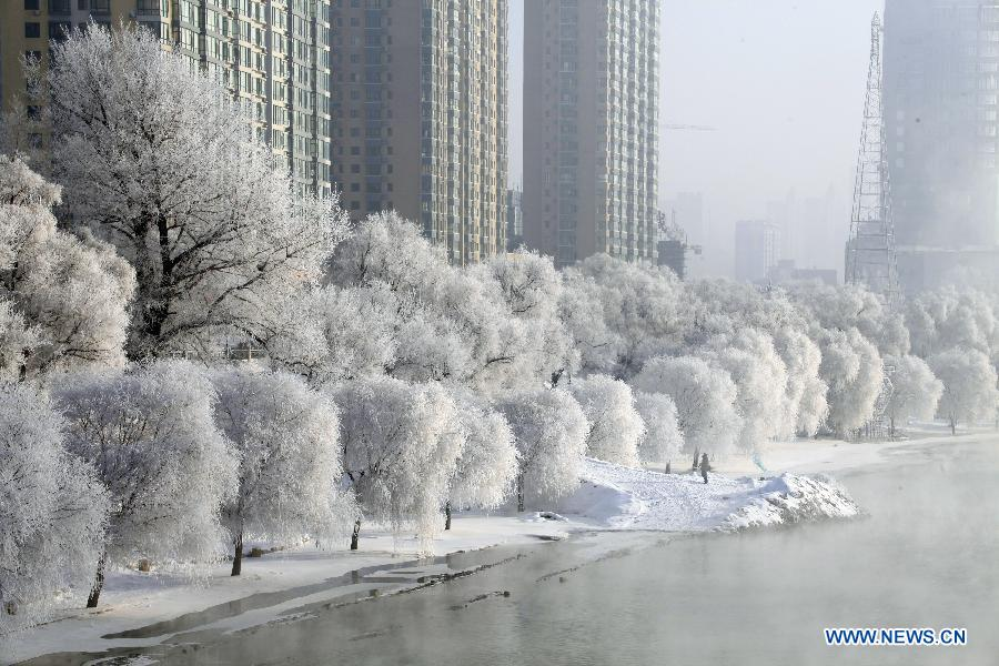 Jilin City China  city images : ... rime in Jilin city, Northeast China's Jilin province. [Photo/Xinhua