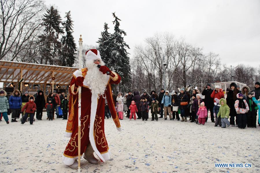 Russians attend celebration to mark Orthodox Christmas  <!-- ab ...
