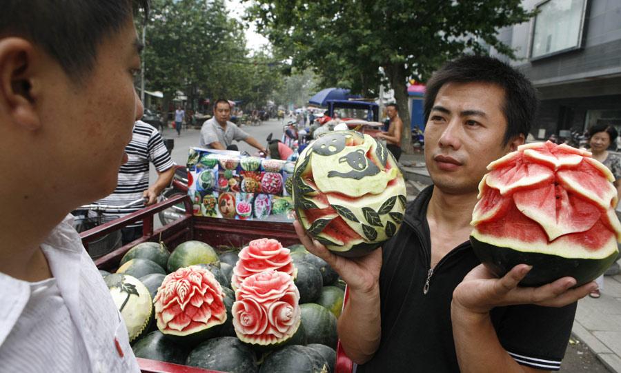 Watermelon art blooms