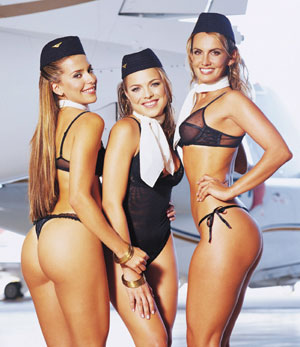 Airlines sexy calendar ruffles feathers