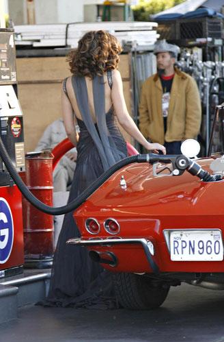 Jessica Alba filming Revlon ads. Twenty-five-year- old Alba recently shot