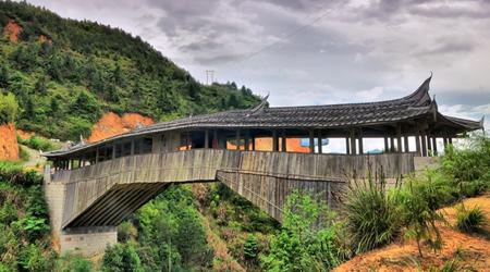 Wooden Arcade Bridges In Pingnan1