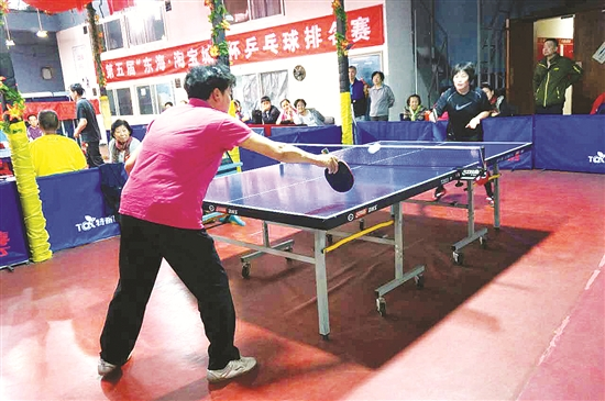 Baotou amateur table tennis competition shows growing popularity