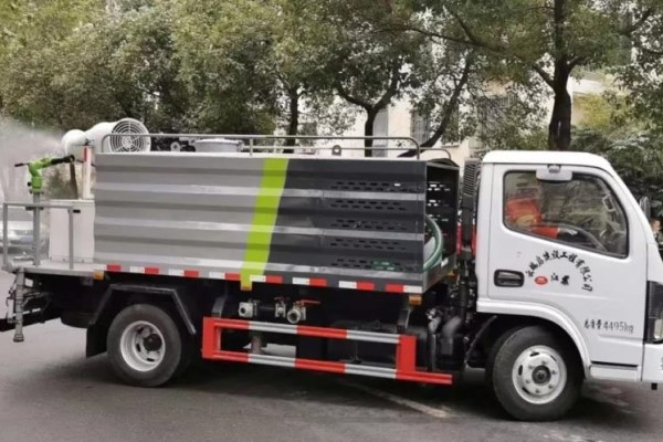 Mist cannon truck used to disinfect Binhu