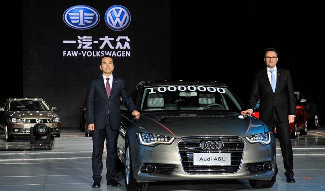 FAW-Volkswagen targets bigger market share. A new Audi A6