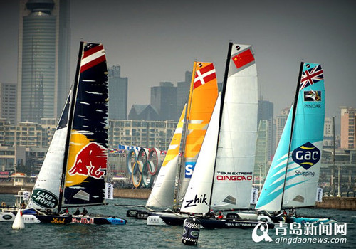 2015 Extreme Sailing Series held in Qingdao