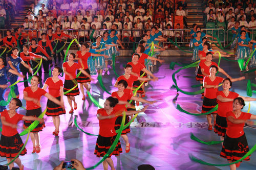 National aerobics dance final held in Qingdao