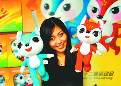 > 济南     8月16日,第22届山东省运动会吉祥物正式与公众见面.