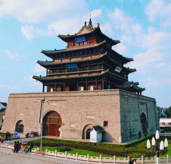 Liaocheng China  city images : Guangyue Tower of the Ming Dynasty, the earliest extant building of ...