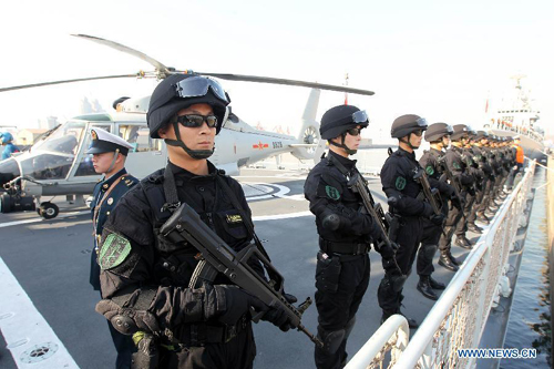 Chinese navy flotilla heads for escort mission in Gulf of Aden
