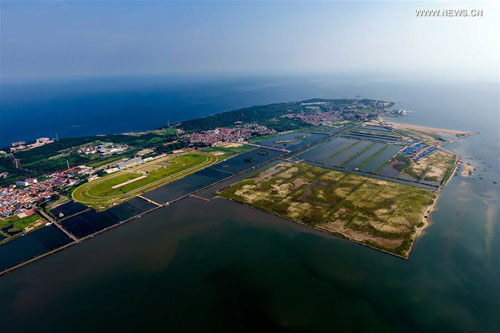 Beautiful scenery of Yangma Island in Yantai
