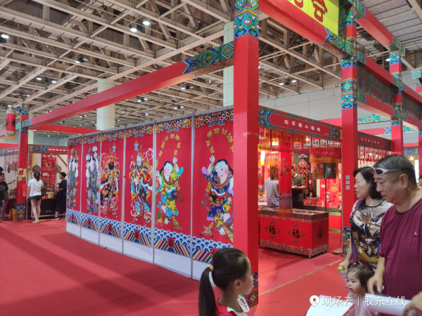 Folk arts, crafts expo opens in Yantai