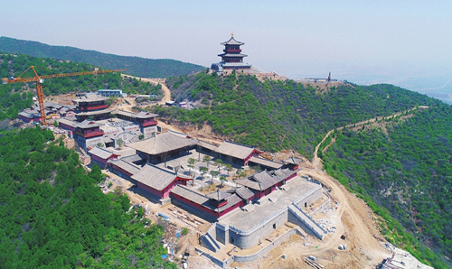 Main part of Longquan Temple restored