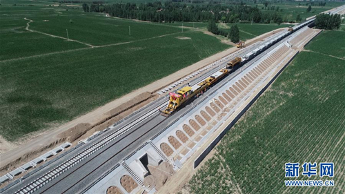 Datong-Zhangjiakou Railway under construction in Shanxi