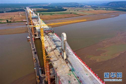 Interprovincial Yellow River Bridge nears completion