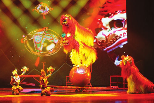 Chinese acrobatics thrill Taiyuan