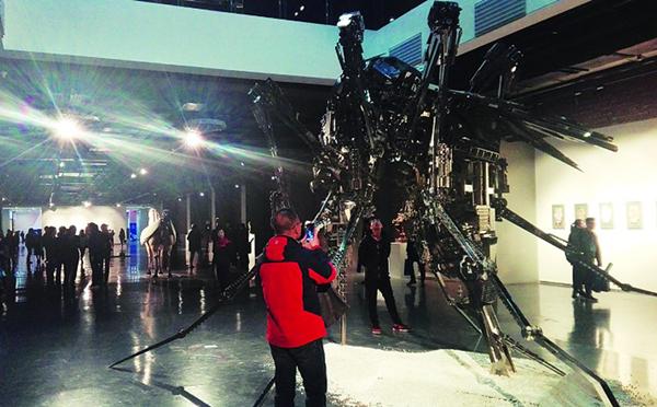 Sculpture biennale opens in Datong